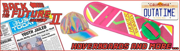 Back to the Future Hoverboards and Toys