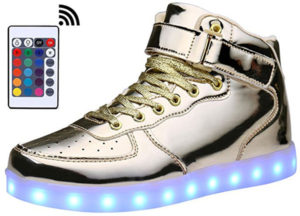 MOHEM ShinyNight High Top LED Light Shoes
