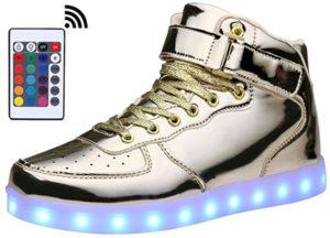 MOHEM ShinyNight High Top LED Light Shoes