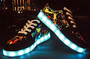 Sabe Splatter LED Hoverboard Shoes